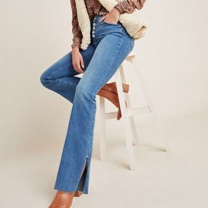 PILCRO High Rise Bootcut Exposed Button Fly Jeans